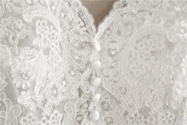 White Cap Sleeve V Neckline Lace Tanks Boho Wedding Bridesmaid Tops Covers-plus  image 6