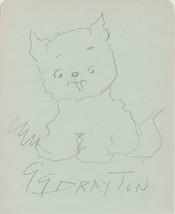 Grace Drayton (d. 1936) Signed Autographed Vintage Signature Page Origin... - $49.99
