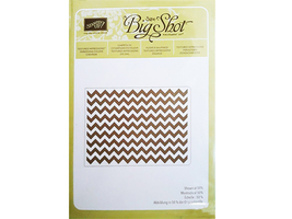 Stampin' Up! Textured Impressions Embossing Folder Chevron #127749 - $4.99