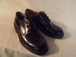 Bass 6342 Men's Dress Shoes Sz 9.5 M  Black Oxford Style Leather Lace Up - $41.58