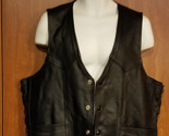 Men's Leather Vest Side Lace River Road Size 48 Heavy Buffalo