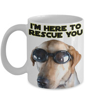 "Funny Dog Mugs ""Luke Skywalker Quote Mug"" I'm Here To Rescue You Dog Mug... - $14.95"