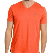 Lacoste Men's Athletic Cotton V-Neck Shirt T-Shirt Citrouille Size XL - $42.50
