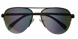 Kenneth Cole Reaction Rimless Brown Aviator Mens Sunglasses  KC1257 32U image 2
