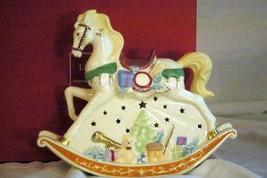 """Lenox 2019 Lit Christmas Rocking Horse Figurine 9 1/2"""" NIB - $55.43"""