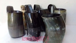 Large 500 ml 600 ml beer wine mead ale Mug Viking Drinking Real Horn tan... - $137.61