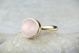 Love quartz ring,rose quartz ring,gold ring,pink quartz ring,pink ring - $69.00+