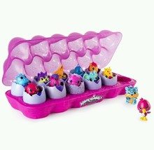 Hatchimals Colleggtibles 12 Pack Egg Carton Stackable Nest Gift Christma... - $42.08