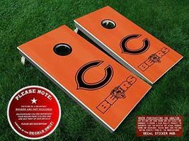 Chicago Bears Cornhole Decals | BLACK | DIY Vinyl Sticker Set For Bean B... - $31.99