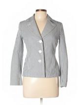 Talbots Size 4 Gray White Striped Jacket Blazer - $39.95