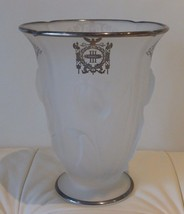 Antique Indiana Glass Sterling Overlay Vase Third Panel Sheriff's Jury New York - $1,400.00