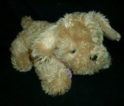 BARBIE FASHION DOLL PUPPY DOG STUFFED ANIMAL PLUSH 2005 MATTEL BARKS TAN... - $14.03