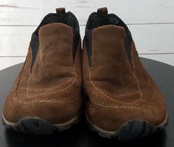 Timberland 40351 Size 7 M Loafers Shoes Brown Black Suede Stretch - $26.99