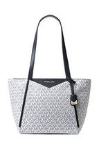 Michael Kors Signature Whitney Tote OPTIC/NAVY - $179.00
