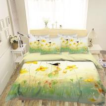 3D Yellow Flower Girl 26 Bed Pillowcases Quilt Duvet Single Queen King US Lemon - $102.84+