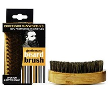 Professor Fuzzworthy's Beard Brush 100% Boar Bristle | Mens Best Easy Beard Groo