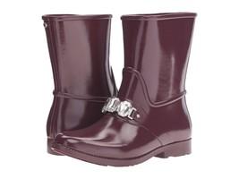 Michael Kors Leslie Rain Boot RainBootie Shoes New Gem Plum Rain Boot Si... - $91.63