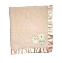 CARTER'S Pink Ballerina Bear Dance Baby Blanket Mommy & Me Satin Trim Lo... - $26.13