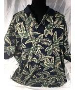 Cooke Street Honolulu Polo Shirt Short Sleeve Hawaiian Leaves Men's Sz. XL - $20.90