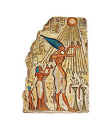 """10"""" Egyptian Sun God Offering Cupped Palms Aten Amenhotep IV Wall Sculpture - $43.51"""