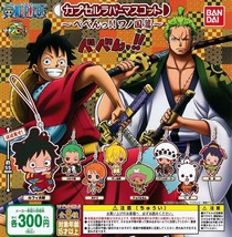 One Piece Capsule Rubber Mascot Beben!! Wano Kuni Country ver. 8 set Bandai New - $44.05