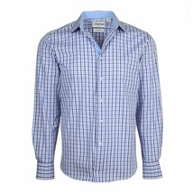 Berlioni Italy Men's & Boys Premium Yarn Dyed Luxe Cotton Dress Shirt Modern Fit image 2