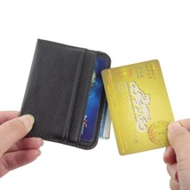 Super Thin Slim Faux Leather Credit Card Case Holder Mini Wallet Id 3 Card Slots - $12.26