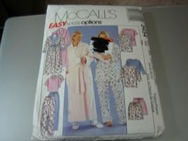 McCall's 3454 Misses Robe w/Tie Belt & Pajamas Pattern - Size 26W-32W - $11.87