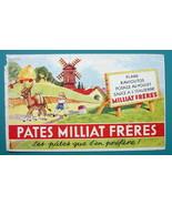 MILLIAT FRERES Edible Pasta - c 1960 Ink Blotter Advertisement - $4.49