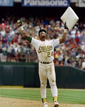 Rickey Henderson Oakland A's SCP Vintage 8X10 Color Baseball Memorabilia Photo - $6.99