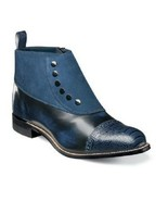 Stacy Adams Madison Side Zip Navy Boot Suede Leather 00083-410 . - £111.13 GBP