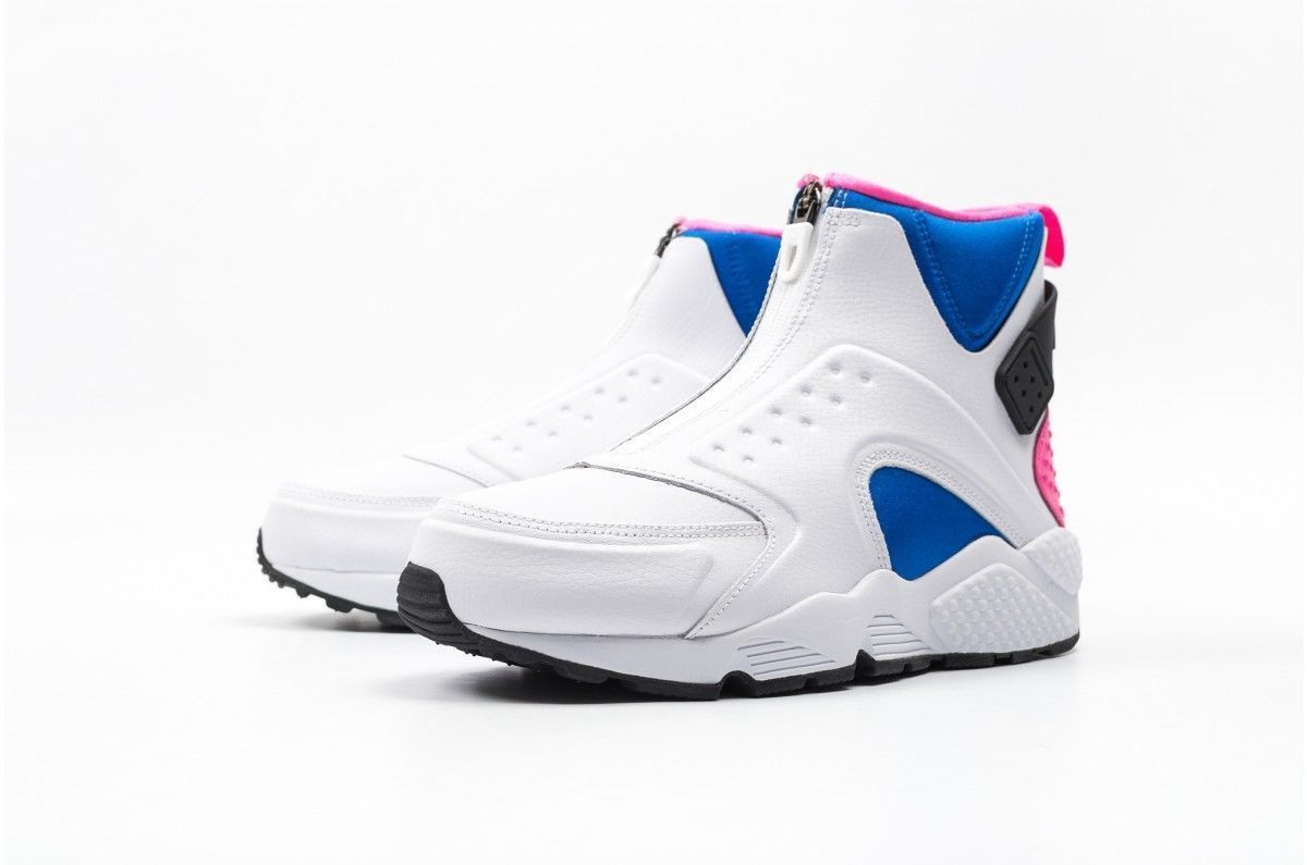 1ea515d9038d NIKE AIR HUARACHE RUN MID 807313-100 White Black Soar Pink Pow Womens Size  11