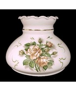 "White Milk Glass Lamp Shade  7"" Roses Student Desk Table Wall Sconce Cha... - $34.95"