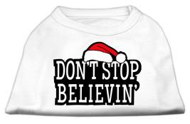 Don't Stop Believin' Screenprint Shirts White S (10) - $11.98