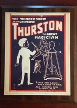 Thurston The Magician Wood Plaque B3 Collectible - $9.95