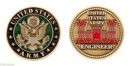 "ARMY ENGINEER BRANCH 1.75"" CHALLENGE COIN - $18.04"