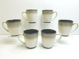 "6 Sango Nova Black 4932 Stoneware 4"" Replacement Drink Coffee Cup Table ... - $39.57"