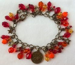 Zodiac Leo Beaded Charm Bracelet - $24.00