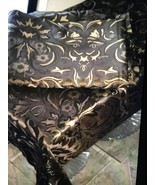 60x102 AUTUMN FALL BROWN GOLD TABLECLOTH NWOT PACKAGE - $14.84