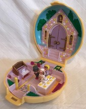 Vintage 1989 Polly Pocket Bluebird Nancys Wedding Compact Church Chapel ... - $29.69