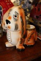 1966 RUBENS JAPAN GET WELL SOON BASSET HOUND DOG FLOWER PLANTER - $11.99