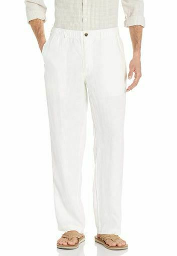 28 Palms Men's Relaxed-fit Linen Pant with Drawstring SIZE X-SM 32L NEW IN PACKA