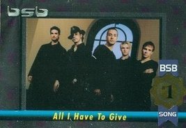 Backstreet Boys trading card (#1 Album/Song All I Have To Give) 2000 Win... - $4.00