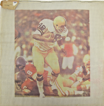 1970s Hand Painted Needlepoint Mystery NFL Football Player Jersey#48 14-CT - $45.94