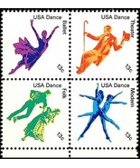 1978 13c American Dance, Block of 4 Scott 1749-52 Mint F/VF NH - $1.38
