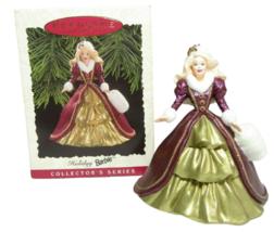 1996 Hallmark Keepsake Christmas Ornament Holiday Barbie Collector Serie... - $6.01