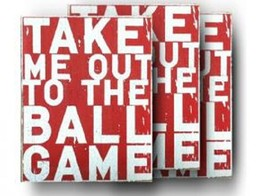 Baseball Sign Take Me Out To The Ballgame Size 6 x 7 Baseball Sign Item ... - $18.00