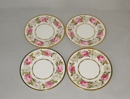 Royal Worcester Royal Garden Bone China Bread Plates Pink and White Roses (4) - $26.00