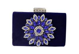 Handmade Rhinestone Royal Blue Bag Banquet Handbag and Fashion Shoulder Bags