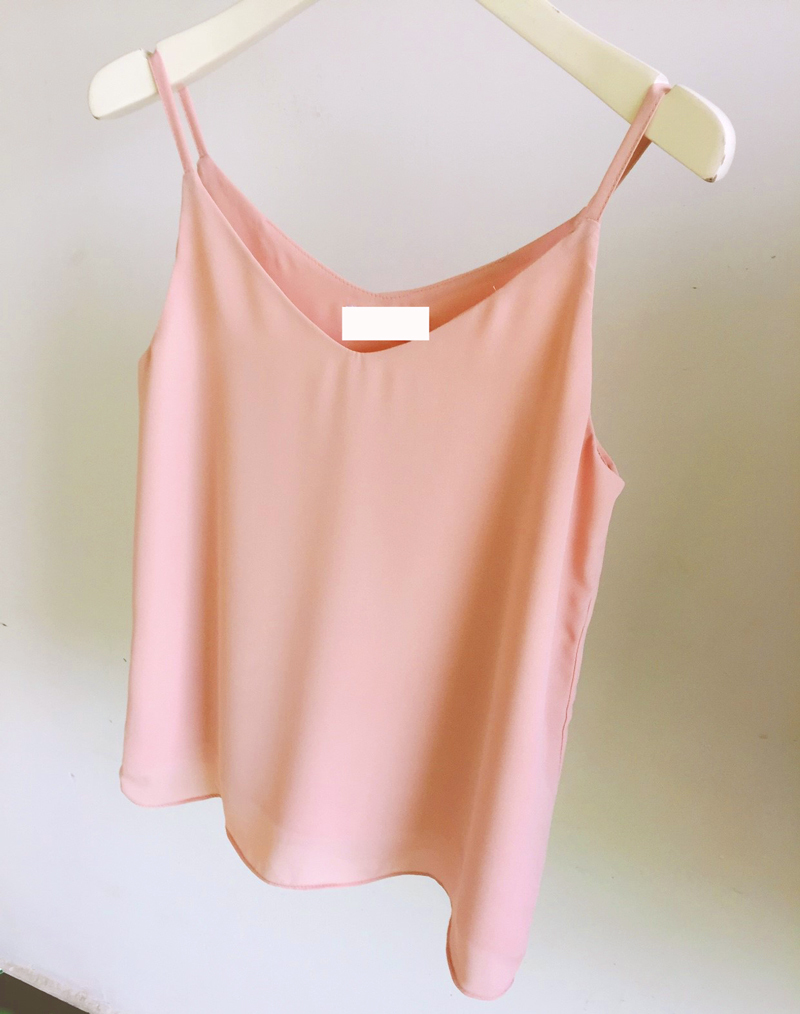 Bridesmaid chiffon tops blush 1